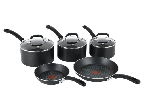 Tefal Premium Non-stick Cookware Set with Induction, 5 Pieces - Black