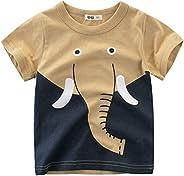 Oyoden Camisetas Manga Corta Niños Dibujos Animados Tops Bebé Verano Algodón Blusa 1-7 Años