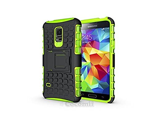 Galaxy S5 Mini Coque, Cocomii Grenade Armor NEW [Heavy Duty] Premium Tactical Grip Kickstand Shockproof Hard Bumper Shell [Military Defender] Full Body Dual Layer Rugged Cover Case Étui Housse Samsung G800 (Green)