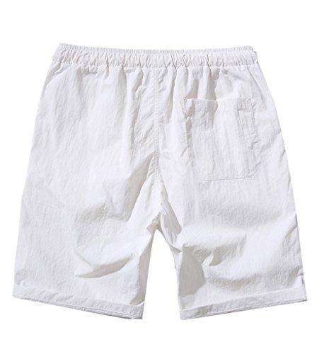 NiSeng Homme Eté Casual Grandes Tailles Slim Séchage rapide Shorts De Bain Boardshorts Plage Swim Surf Shorts Maillot De Bain Blanc