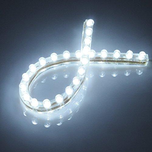 Preisvergleich Produktbild Well-Goal Flexibler Leuchtschlauch mit 24 LEDs, wasserdicht, für Aquarium, 24 cm, Weiß