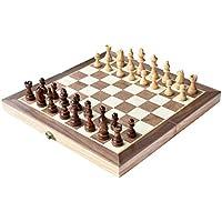 """HOWADE Ajedrez 12 """"x12 pulgadas juego de tablero de madera juego de ajedrez magnético hecho a mano piezas de ajedrez viajar juegos de mesa internacionales"""