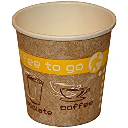 Coffee to go boissons chaudes Gobelets en carton, 100 ml, Lot de 50