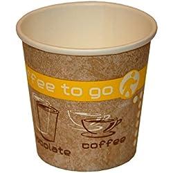 Coffee to go boissons chaudes Gobelets en carton, 100ml, Lot de 50
