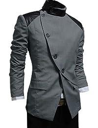 Finejo Men's Korea Ultra Collection Suit Blazer Coat Jackets