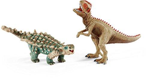 Preisvergleich Produktbild Schleich 41426 - Spielzeugfigur, Saichania und Giganotosaurus, klein