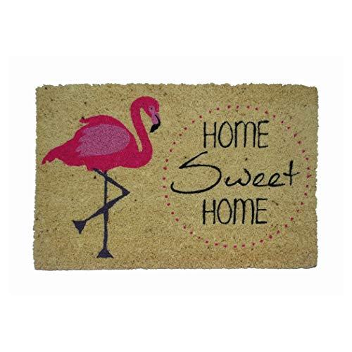 koko doormats Felpudo Flamenco, PVC, Coco, 40 x 60 cm