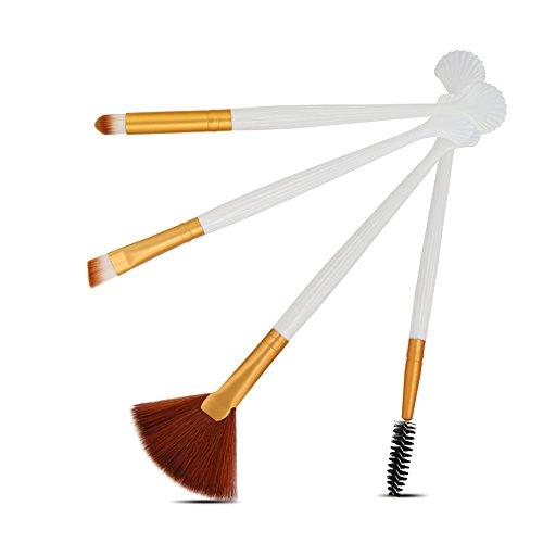 DaySing Brosse Poils SynthéTiques Vegan, 100% sans Cruauté, Soyeux Et Denses,4Pcs CosméTique Maquillage Pinceau Fard à Joues Fard à PaupièRes Kit Set pour Tous Types De Maquillage, Cadeau