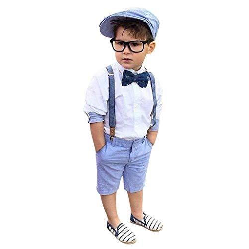Obestseller Jungenbekleidung Kinder Bekleidungsset,Kleinkind Kinder Baby Jungen Outfit Kleidung Shirt + Shorts Hosen Gentleman Party Anzug,Frühlings- und Sommeranzug (Kleinkinder Für Weihnachten Anzüge)