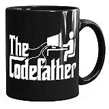 MoonWorks® Kaffee-Tasse The Codefather Programmierer IT Informatiker Coder Geschenk-Tasse schwarz unisize