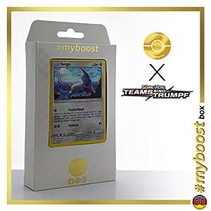 Sengo (Zangoose) 132/181 Holo - #myboost X Sonne & Mond 9 Teams Sind Trumpf - Box de 10 Cartas Pokémon Alemán