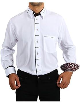 H K Mandel - Camisa casual - Asimétrico - Básico - para hombre
