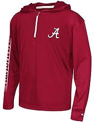 "Alabama Crimson Tide Youth NCAA ""Sleet"" 1/4 Zip Pullover Hooded WindShirt Chemise"