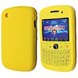 Yellow Keypad Soft Silicone Rubber Case Cover For Blackberry Curve 8520 / Curve 3G 9300 From My Fone UK