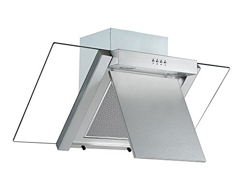 41aiqIWTXpL - Angled Glass Extractor Fan | Cookology ANG905SS Unbranded 90cm Angled Glass Chimney Cooker Hood in Stainless Steel