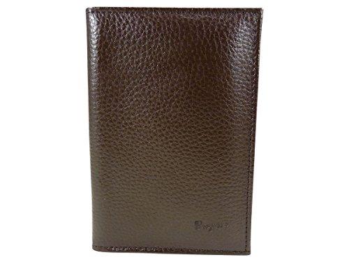Custodia di protezione trasparente, porta carte, permesso, documenti auto, in pelle marrone Taglia Unica