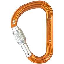 Petzl Karabiner Attache Screw-Lock - Mosquetón de escalada con seguro, color naranja