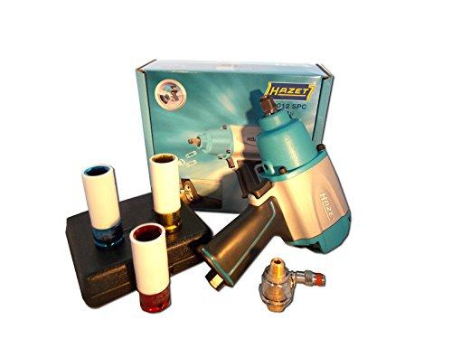 Preisvergleich Produktbild Hazet Schlagschrauber 9012SPC + Mini-Öler + 3 Schlagschraubernüsse 17, 19, 21 - Paket 5