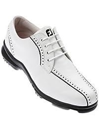 FootJoy - Zapatillas Deportivas de Golf 'SoftJoys' para Dama - Blanco/Negro, 40.5