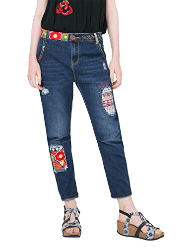 41airF25RoL - Desigual Damen Jeans Denim New Exotic