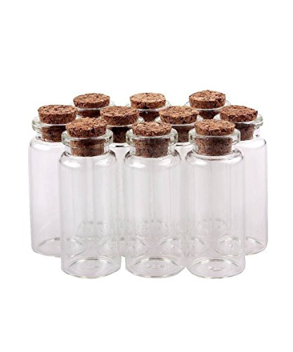 DAYAN Cancella miniatura trasparente bottiglia di desiderio Mini vetro Vasi con Cork Bottiglie Tappi piccolo (Vaso Di Vetro Bicchiere)