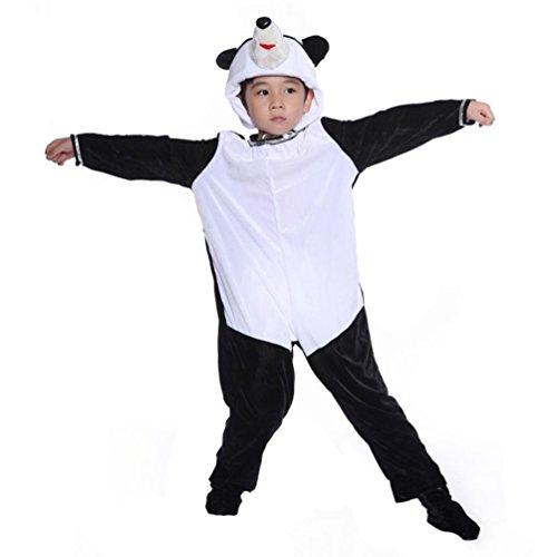 Honeystore Kind's Unisex Panda Kostüm Cosplay Einteilig Pyjamas Tier Jumpsuit (Kostüm Verleih Cosplay)