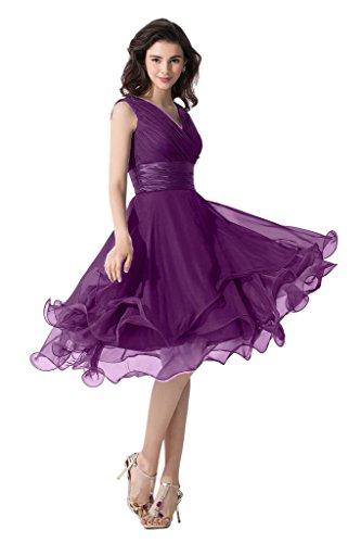 Victory Bridal - Robe - Trapèze - Femme Violet - Traube