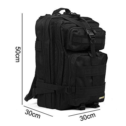 Imagen de eyourlife rfid  militar táctica molle para acampada camping senderismo deporte backpack de asalto patrulla para hombre mujer 40l negro alternativa