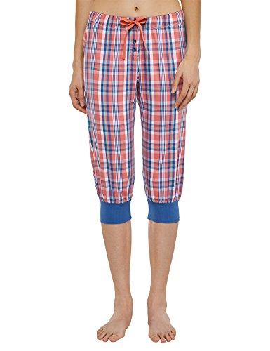 Uncover by Schiesser Damen Schlafanzughose Uncover Woven Pants 3/4, Gr. 34 (Herstellergröße: XS), Rot (Koralle 517) (Bei 3/4 Woven Pant)