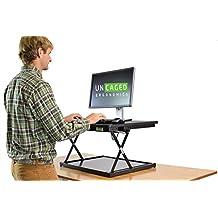 changedesk Mini–Schnell Günstigen höhenverstellbar Stehpult conversion| Ergonomischer Laptop & Desktop Computer Stand Up Schreibtisch Konverter (schwarz)