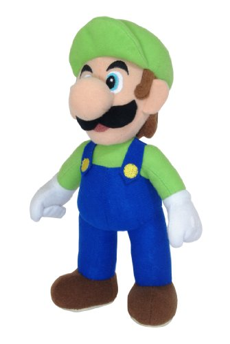 Super Mario 9801 - Peluche de Luigi (24 cm)