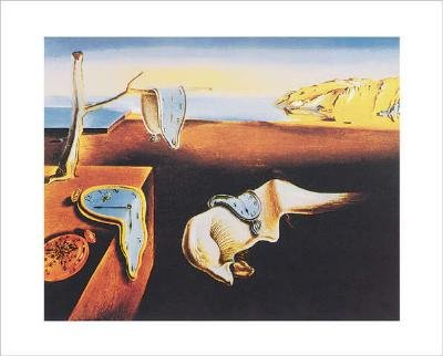 Salvador Dalí Notice / Kunstdruck The Persistance of Memory 50 x 40 cm