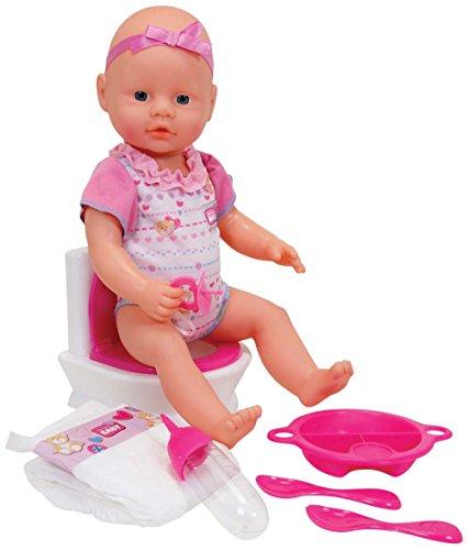 Simba 105032483 - New Born Baby Flushing Potty, Babypuppe