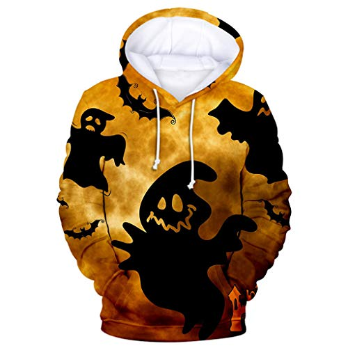SSUPLYMY Frauen Halloween Sweatshirt,Hoodie Damen Kostüm Horror Halloween Sweatshirt Pullover Tops Hoodied Kapuzenpullover Outwear Sweatshirt Pullover Bluse - Tolle Paare Kostüm