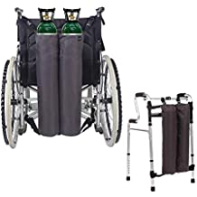 Mochila de oxígeno Bolsas para silla de ruedas Portador del tanque Portátil Bolsa de transporte de
