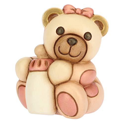 Thun ® - teddy bimba piccolo con biberon personalizzabile - ceramica -6,85 cm - linea i classici