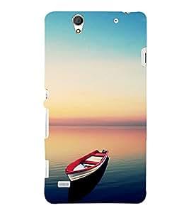 Boat in Serene River 3D Hard Polycarbonate Designer Back Case Cover for Sony Xperia C4 Dual :: Sony Xperia C4 Dual E5333 E5343 E5363