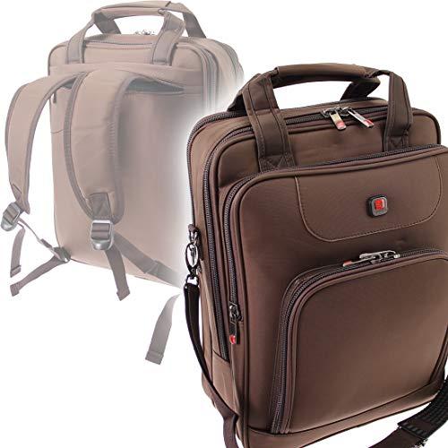 Businesstasche Schultertasche & Rucksack/Herren Umhängetasche Hochformat mit Rucksackfunktion Laptoptasche Dokumententasche Arbeitstasche