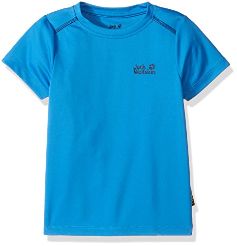 Jack Wolfskin Jungen Shoreline T-Shirt, Jungen, Wave Blue, Size 104 (3-4 Years Old) US