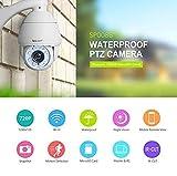 Caméra de sécurité WiFi extérieure, Sricam Caméra IP sans Fil, Dôme étanche IP66, Panoramique/Inclinaison avec des alertes de Movement Vision Nocturne Intérieur d'intérieur