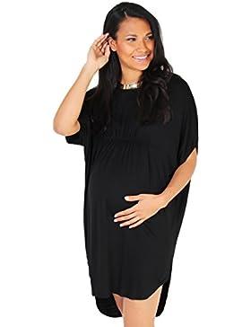 523491f2eb65  Sponsorizzato KRISP Premaman Donna Top Vestito Elastico Vita Manica Corta  Vestibilità Lunga T Shirt