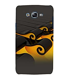 printtech Wave Abstract Pattern Back Case Cover for Samsung Galaxy J7 / Samsung Galaxy J7 J700F