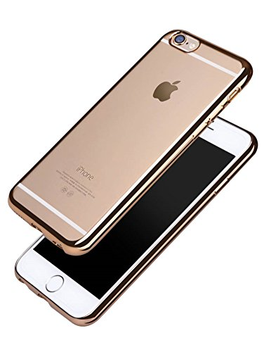 Coque-Transparent-pour-iPhone-6S-Sunroyal-Bling-TPU-Coque-Etui-Gel-Ultra-Mince-Paillette-Case-Cover-Telephone-Portable-Soft-Housse-Cas-Prime-Flex-Silicone-Skin-Protection-Shell-Coquille-Anti-Choc-Bump