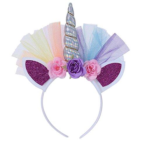 Doitsa, bonita diadema, infantil, princesa ,diadema de unicornio, diadema de fiesta de cumpleaños, para niñas.