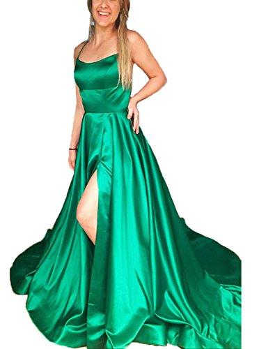 Abendkleid smaragd lang