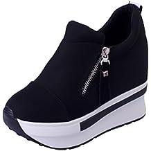 Botas Mujer Zapatos de Resbalón EN el Tobillo Plataforma Moda Casual