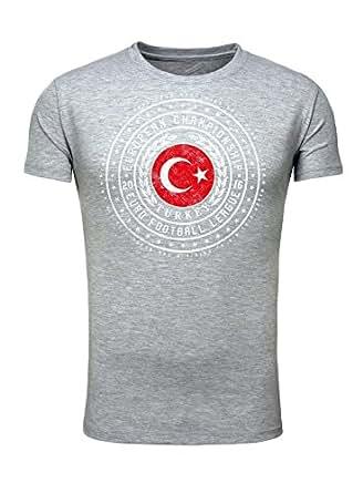 Legendary Items Herren T-Shirt EM 2016 Trikot Wappen Türkei Turkey Fußball Europameisterschaft Vintage European Championship
