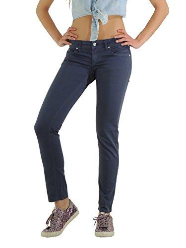 Liu-Jo pantaloni donna cinque tasche slim a tinta unita W10230 (27)