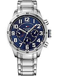 Tommy Hilfiger Watches Herren-Armbanduhr XL TRENT Analog Quarz Edelstahl 1791053