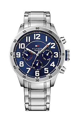 tommy-hilfiger-trent-mens-quartz-watch-with-blue-dial-analogue-display-and-silver-stainless-steel-br